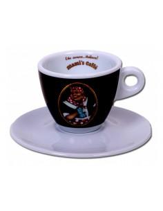 Mami´s Caffé šálek na cappuccino - černý