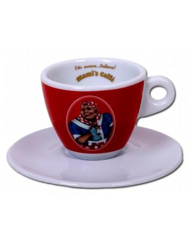 Mami´s Caffé šálek na cappuccino - červený