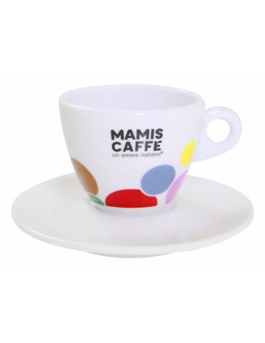 Mami´s caffé šálek na cappuccino - barevný
