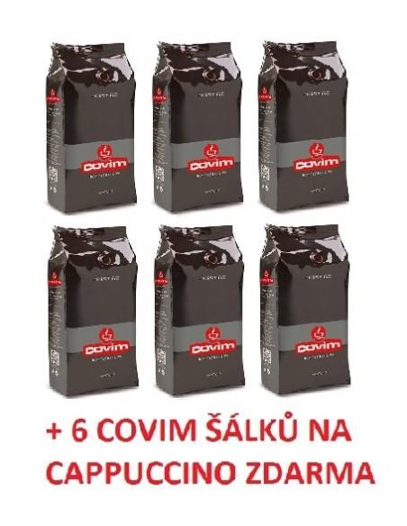 Zrnková káva Covim Granbar 6 x 1 kg + 6 šálků Covim na espresso