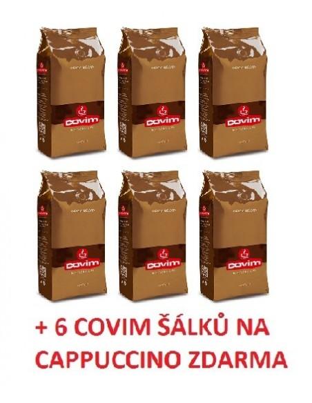 SET/ Covim Gold Arabica 6 x 1 kg + šálky CP zdarma