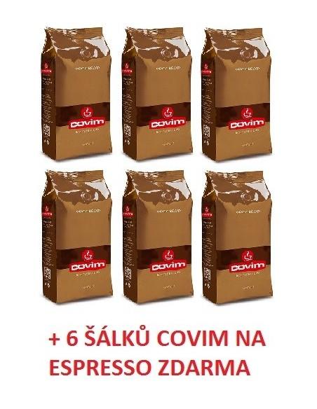 Zrnková káva Covim Orocrema 6 x 1 kg + 6 šálků Covim na espesso