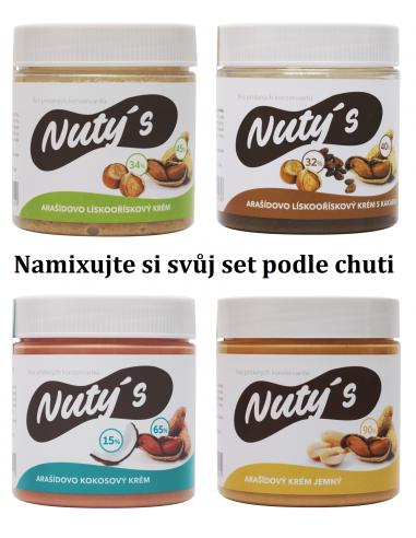 Nuty's Arašídový krém MIX 4 x 350 g