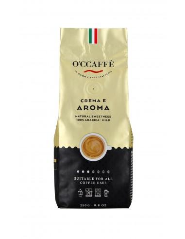 Zrnková káva O'Ccaffé Crema e Aroma 100% Arabika 250 g
