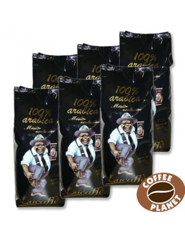 Zrnková káva Lucaffé Mr. Exclusive 100% Arabica 6 x 1 kg