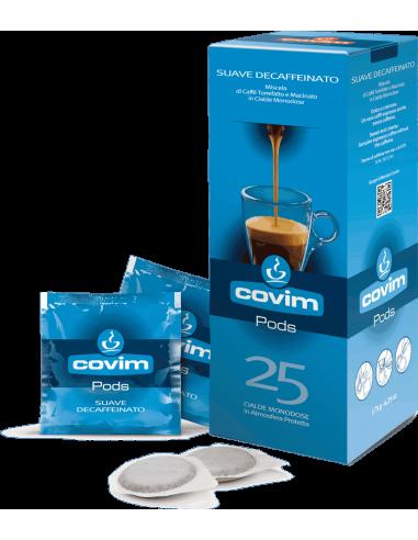 E.S.E. pody káva Covim Suave bezkofeinová 25 porcí